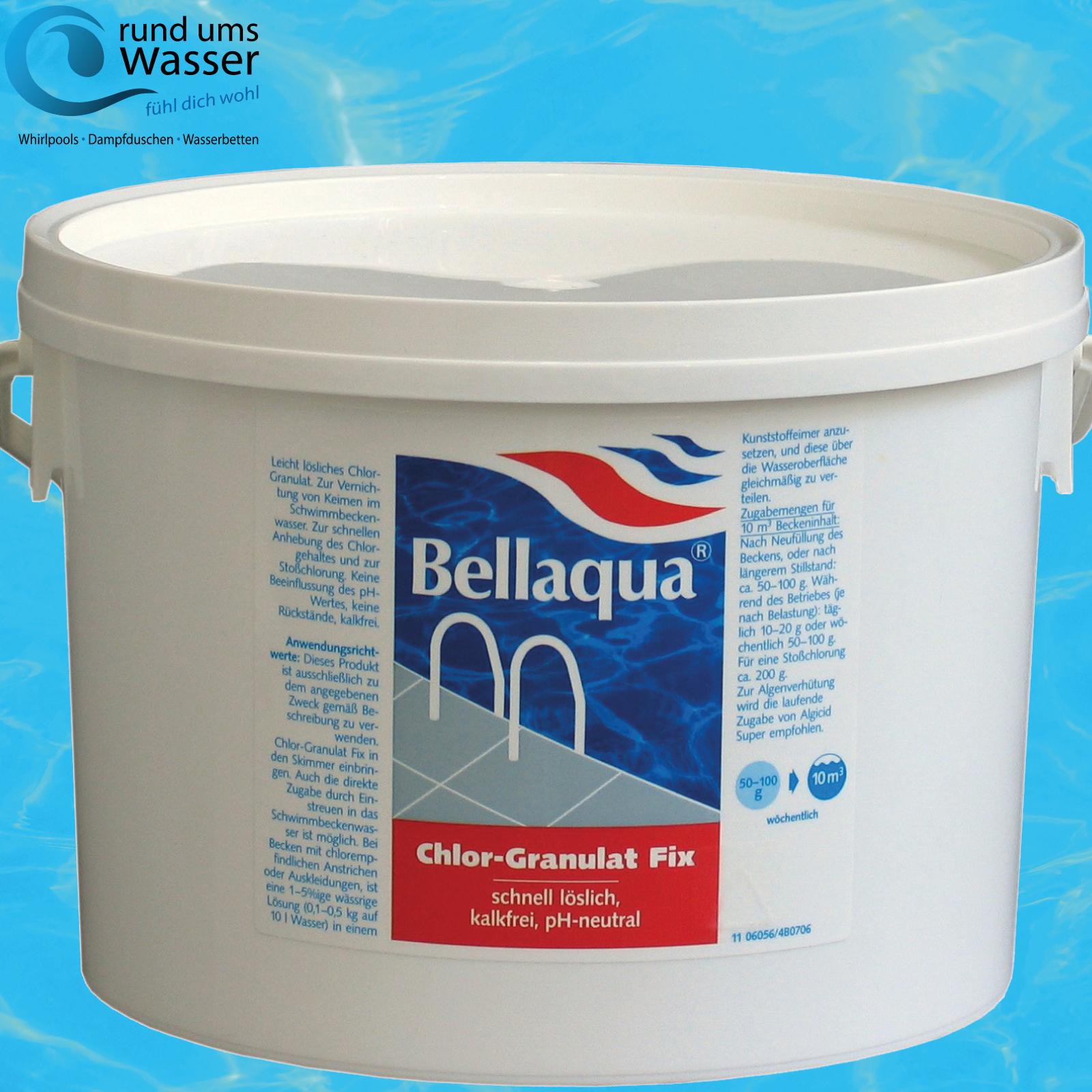 bellaqua chlor granulat fix 3kg schnell l slich pool schwimmbad chlorung bayrol ebay. Black Bedroom Furniture Sets. Home Design Ideas