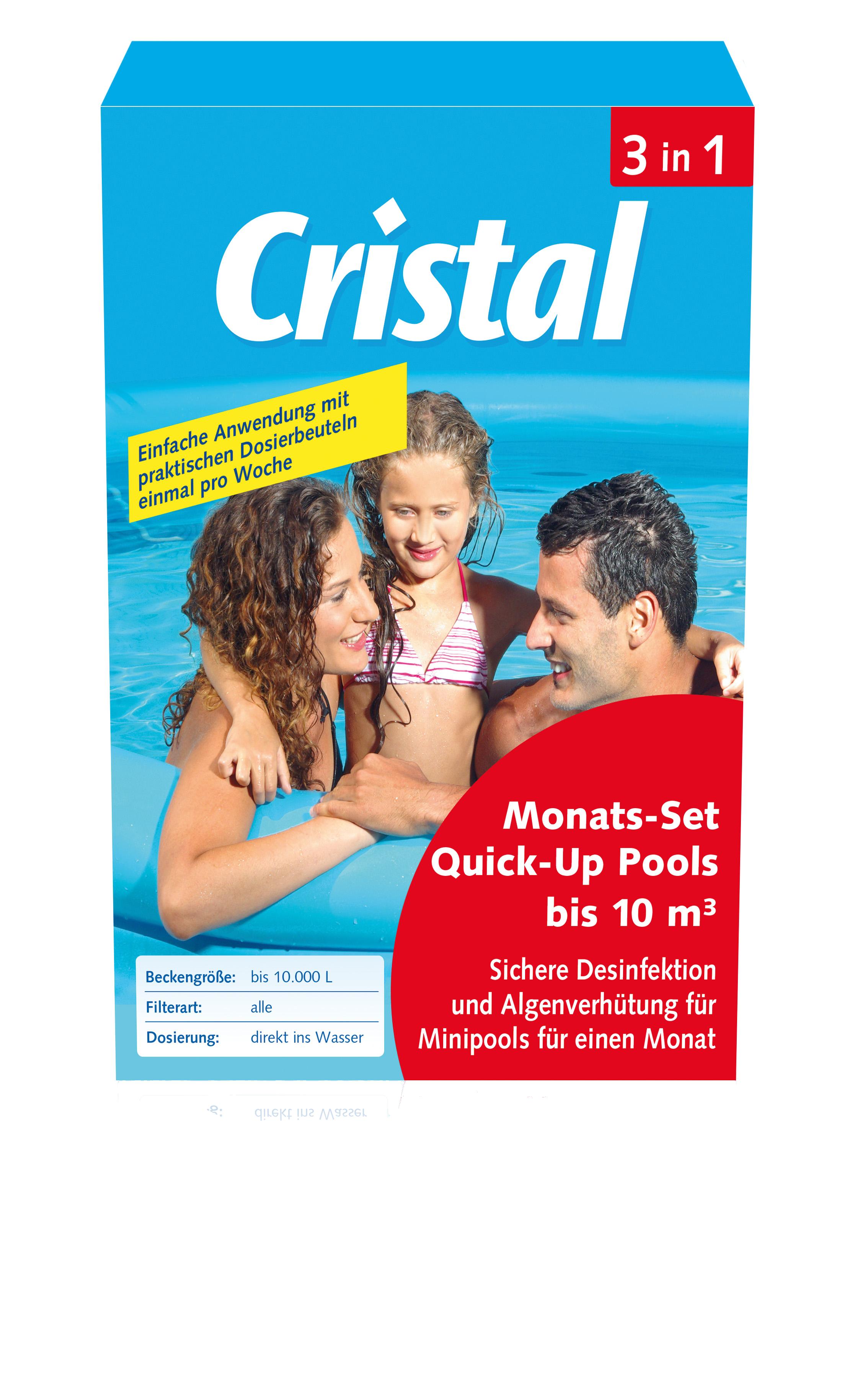 Cristal chlor monats set f r quick up pool bis 10m quick for Quick up pool obi