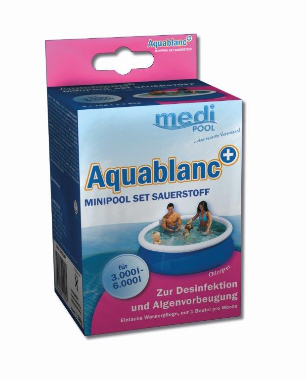 medipool aquablanc minipool set sauerstoff chlorfreie wasserpflege ebay. Black Bedroom Furniture Sets. Home Design Ideas